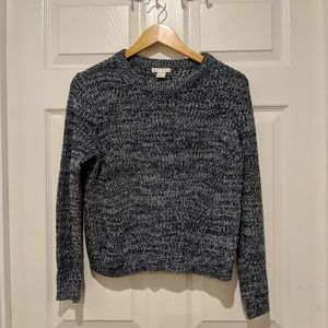 Speckled navy sweater